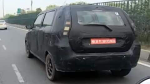 Ahead of its launch, seven-seater Maruti Suzuki WagonR spotted testing