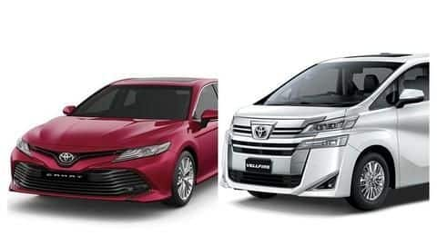Toyota Camry Hybrid And Vellfire MPV become costlier in India