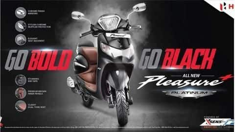 Hero Pleasure Plus Platinum Black Edition to be launched soon