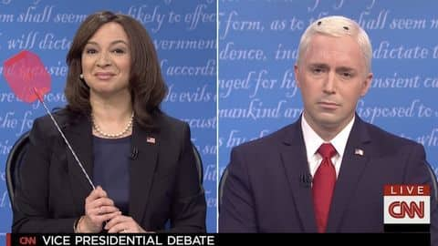 'SNL' parodies Vice Presidential debate, and there was a fly