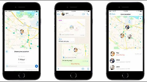 WhatsApp's new real-time location sharing feature