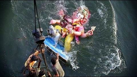 Ganesh idol immersion ceremonies in Maharashtra