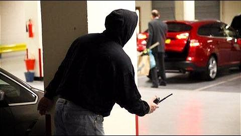 Car stolen from a heavily guarded building in 2012