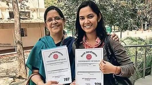 Mother-daughter duo receives PhD together from Delhi University