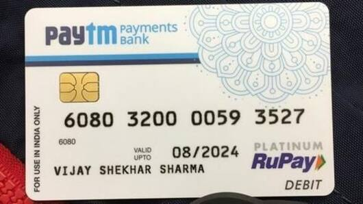 Paytm Payments Bank launches physical debit cards
