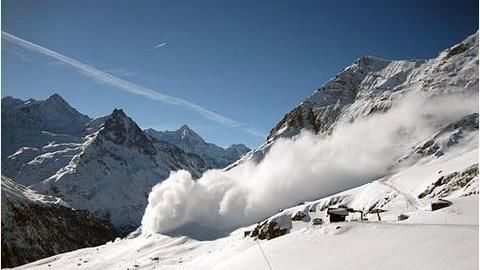 The Avalanche in Tignes