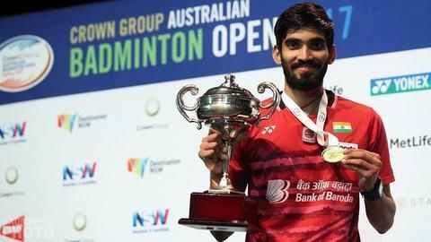 Srikanth is the richest shuttler of 2017