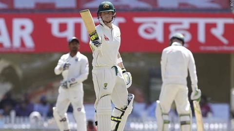 Smith, Maxwell stabilize Australia in third test match at Ranchi