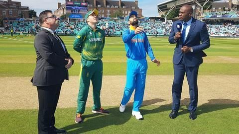 India decide to field after winning the toss