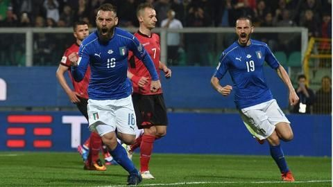 Italy defeat Albania in world cup qualifier