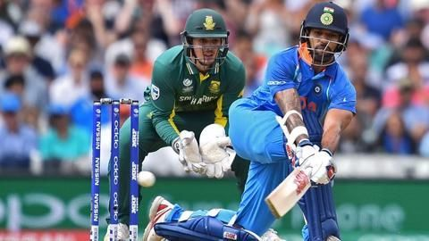 ICC Champions Trophy- Dhawan, Kohli guide India to semis