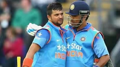 Raina, Dhoni power India to 202 runs