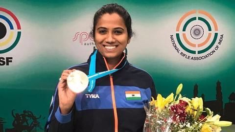 Pooja Ghatkar wins bronze at the shooting World Cup