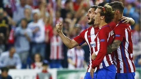 Griezmann goal gives Atletico Madrid a slender lead over Leicester