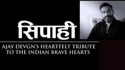 Ajay Devgn recites poem on soldiers' sacrifice and valor, 'Sipahi'