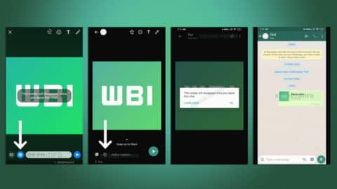 Leaked screenshots suggest WhatsApp might roll out self-destructing images