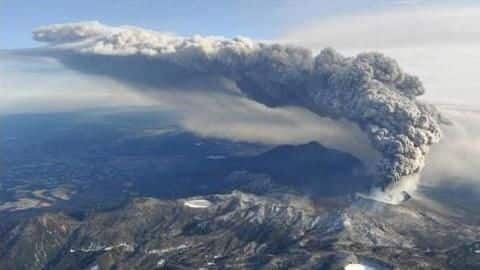 Japan: Volcano erupts in southern island; no damage reported yet