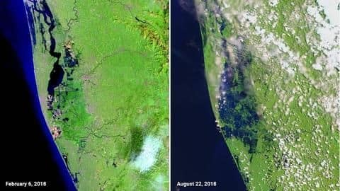 Kerala floods: NASA's before-and-after images reveal scale of devastation