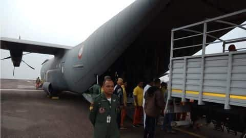 Meghalaya: Air Force transports heavy-duty pumps to rescue trapped miners