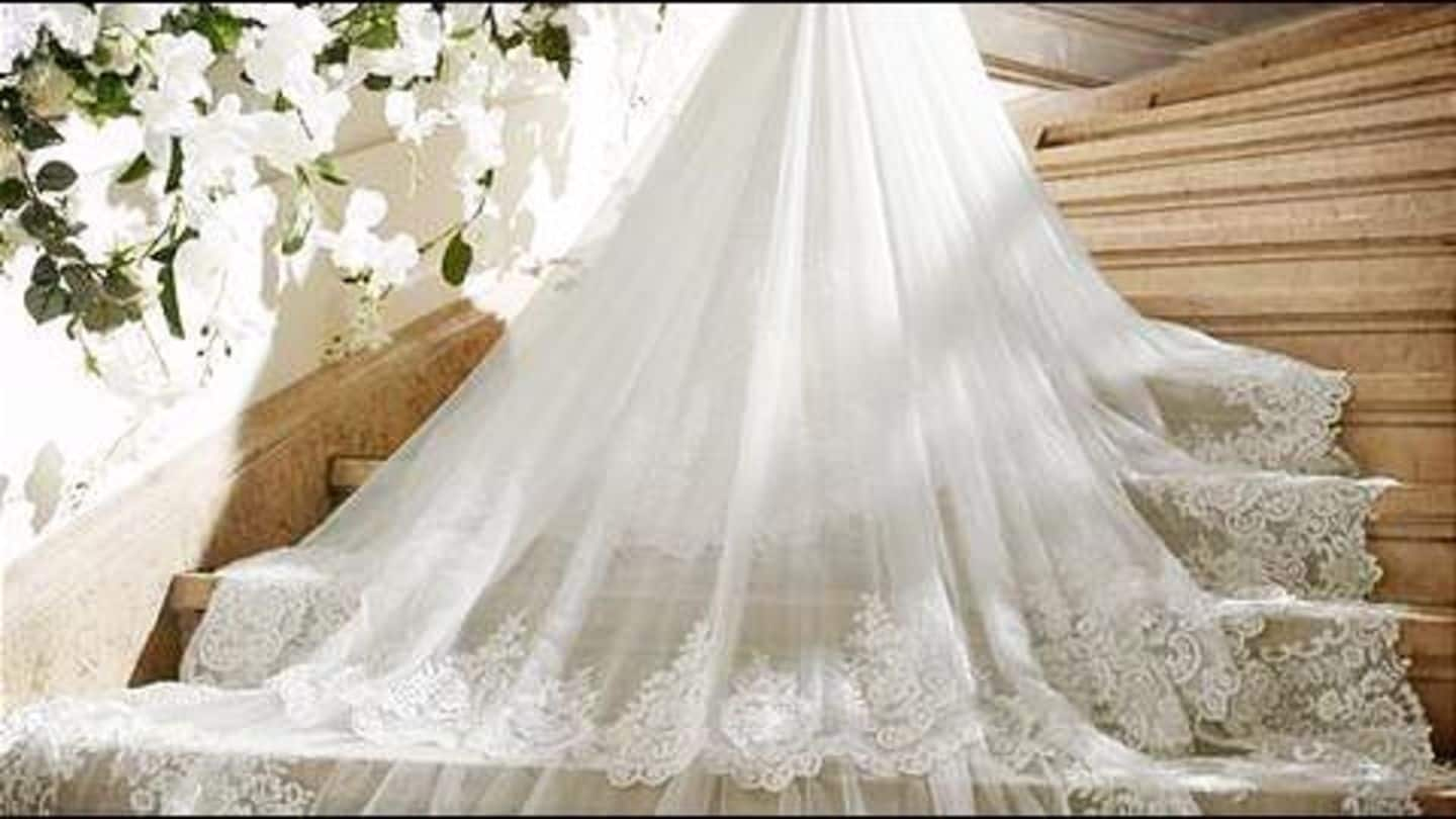 Swarovski heiress bedazzles with wedding gown made of 50,000 crystals