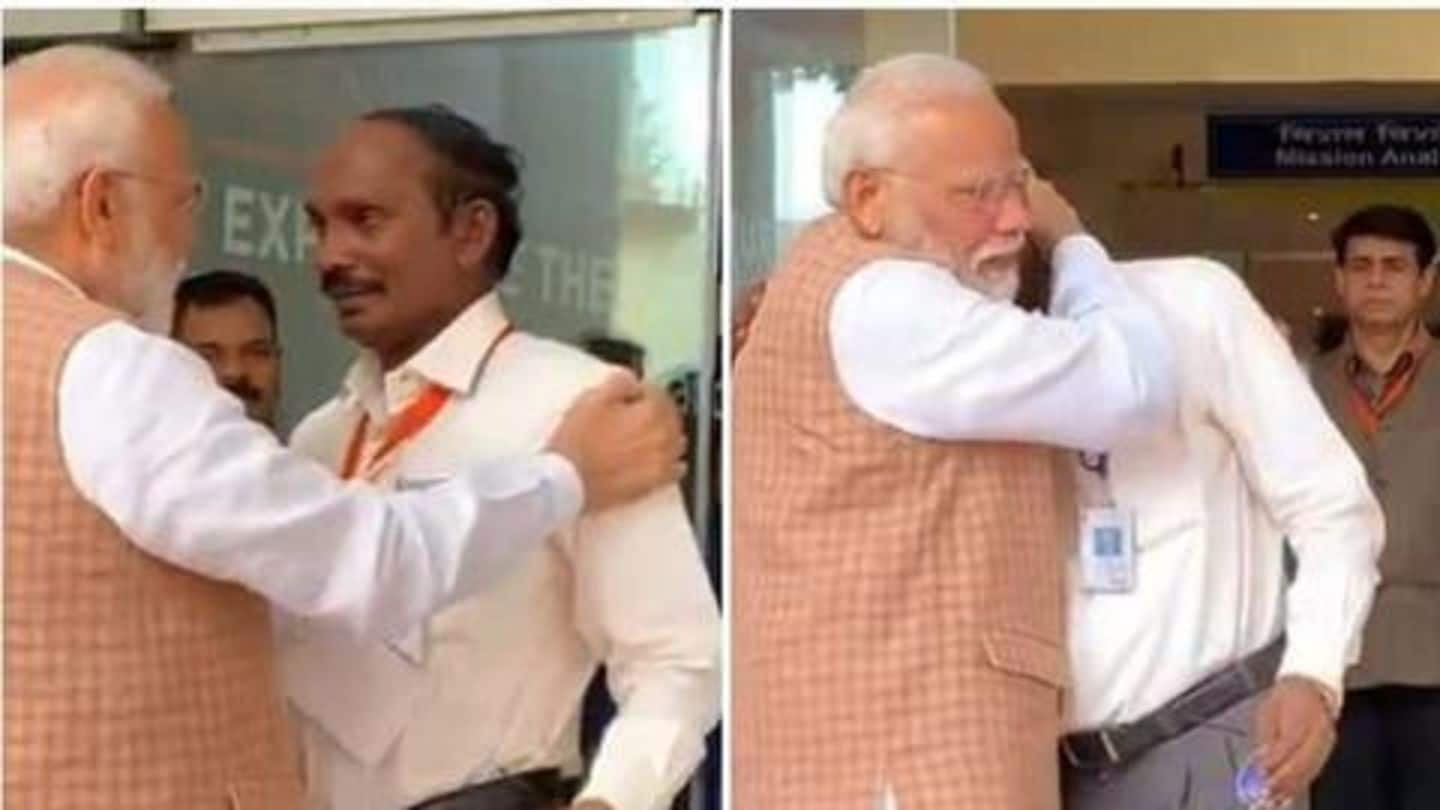 After Chandrayaan-2 goes off-script, Modi consoles emotional ISRO chief