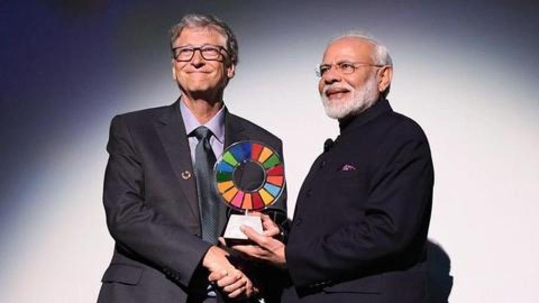 Narendra Modi receives Global Goalkeeper Award for Swachh Bharat campaign