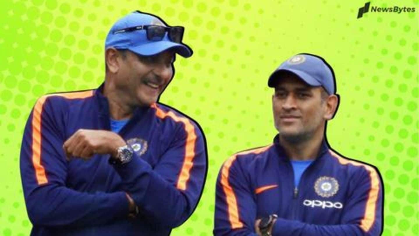 Shastri explains why Dhoni was sent at number seven