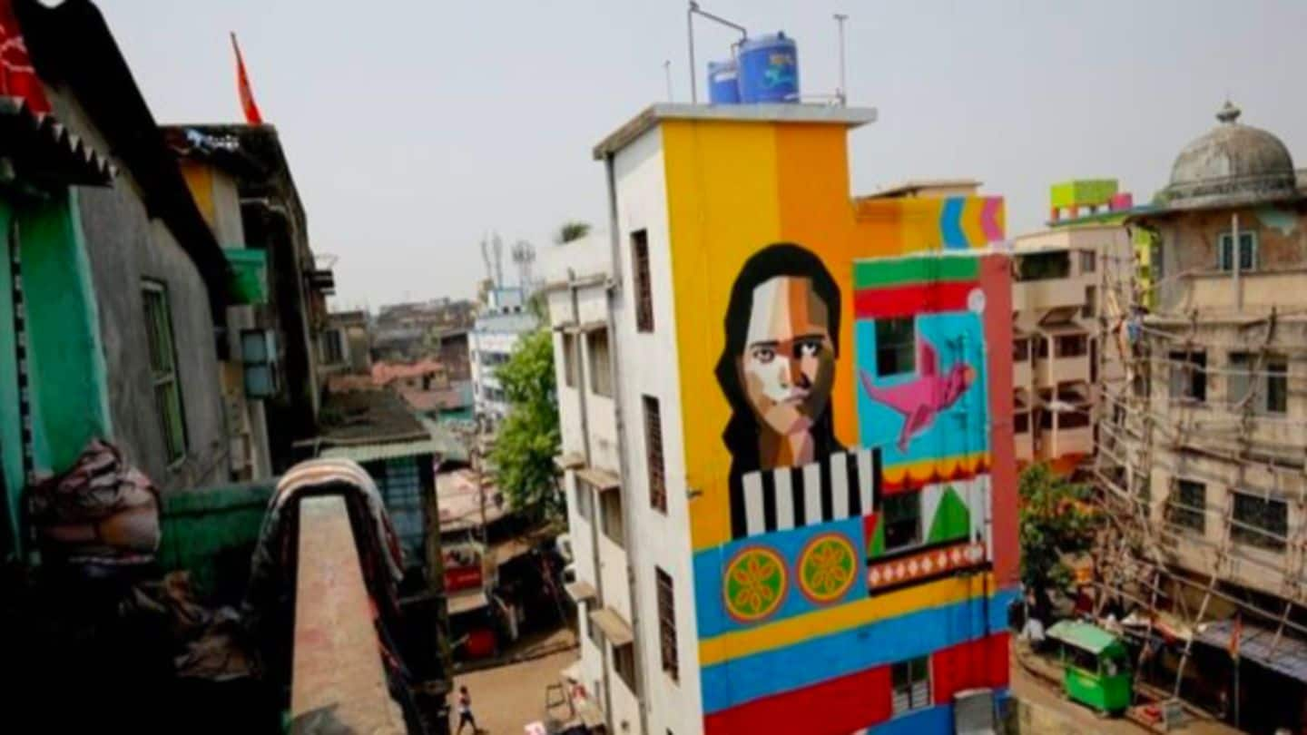 India's oldest brothel Sonagachi gets a colorful makeover