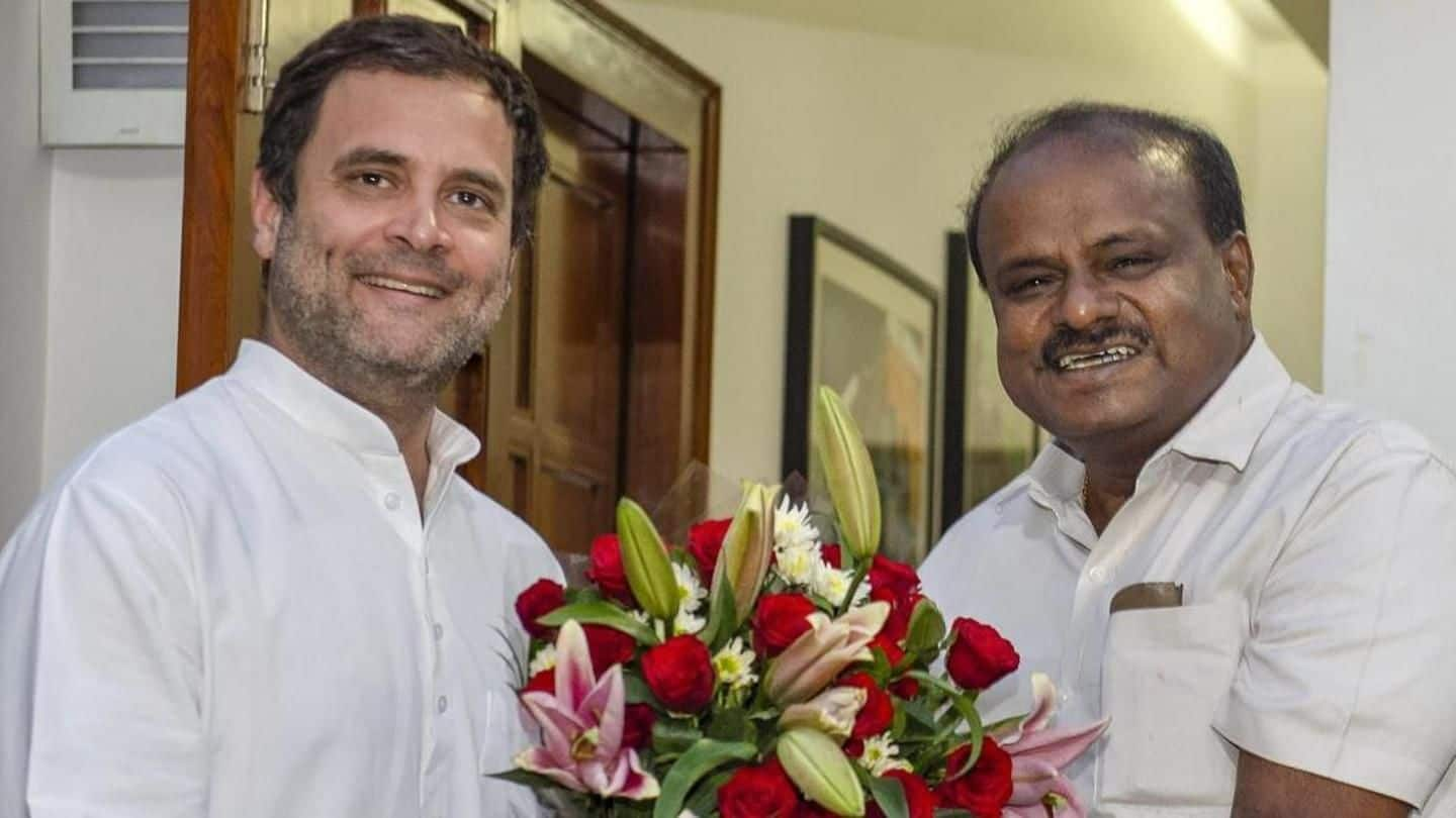 'Rahul should be PM,' says Kumaraswamy amid reports of dissent