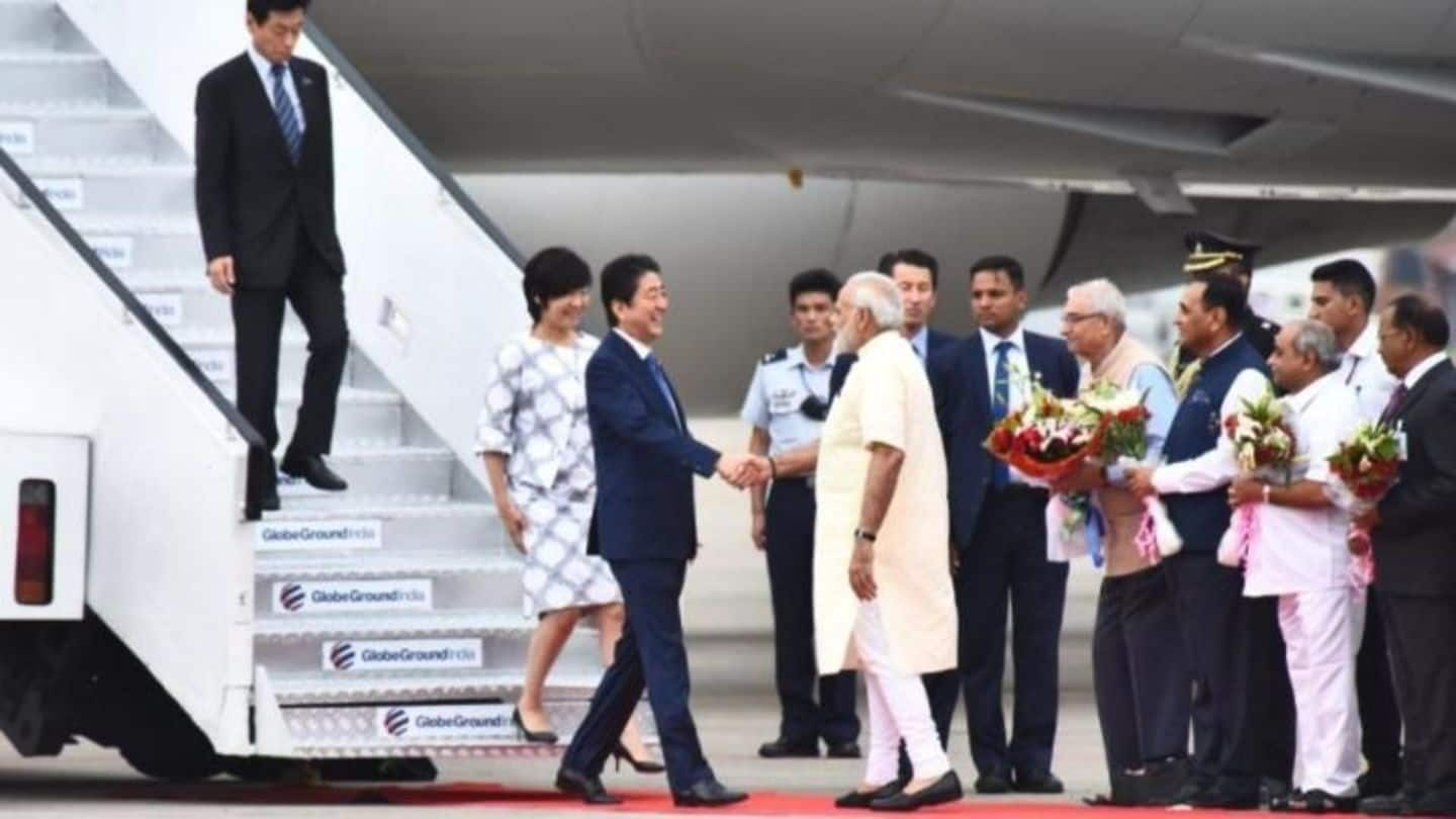 Modi, Abe inaugurate India's first bullet train project in Ahmedabad