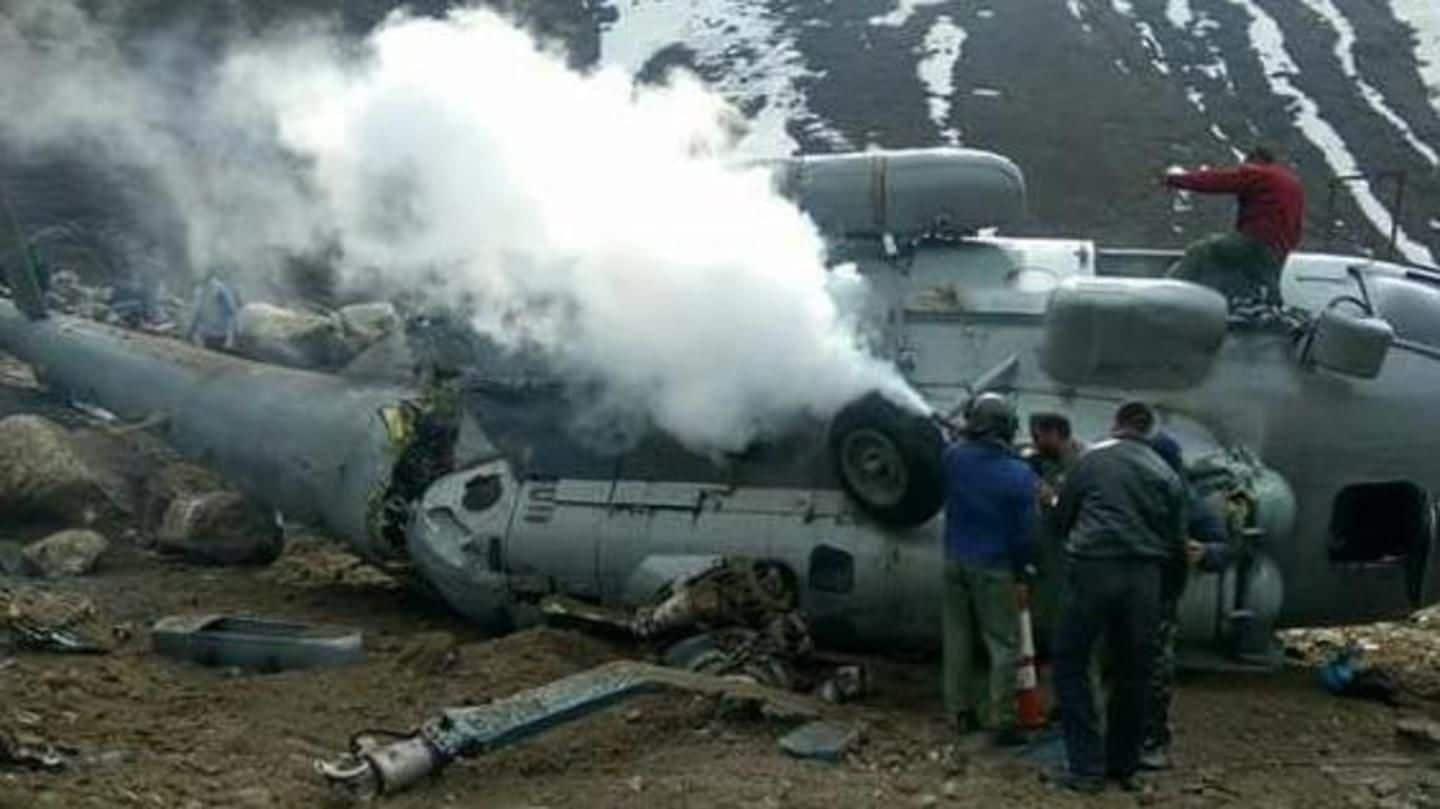 Mi-17 IAF chopper crashes in Uttarakhand, no casualty