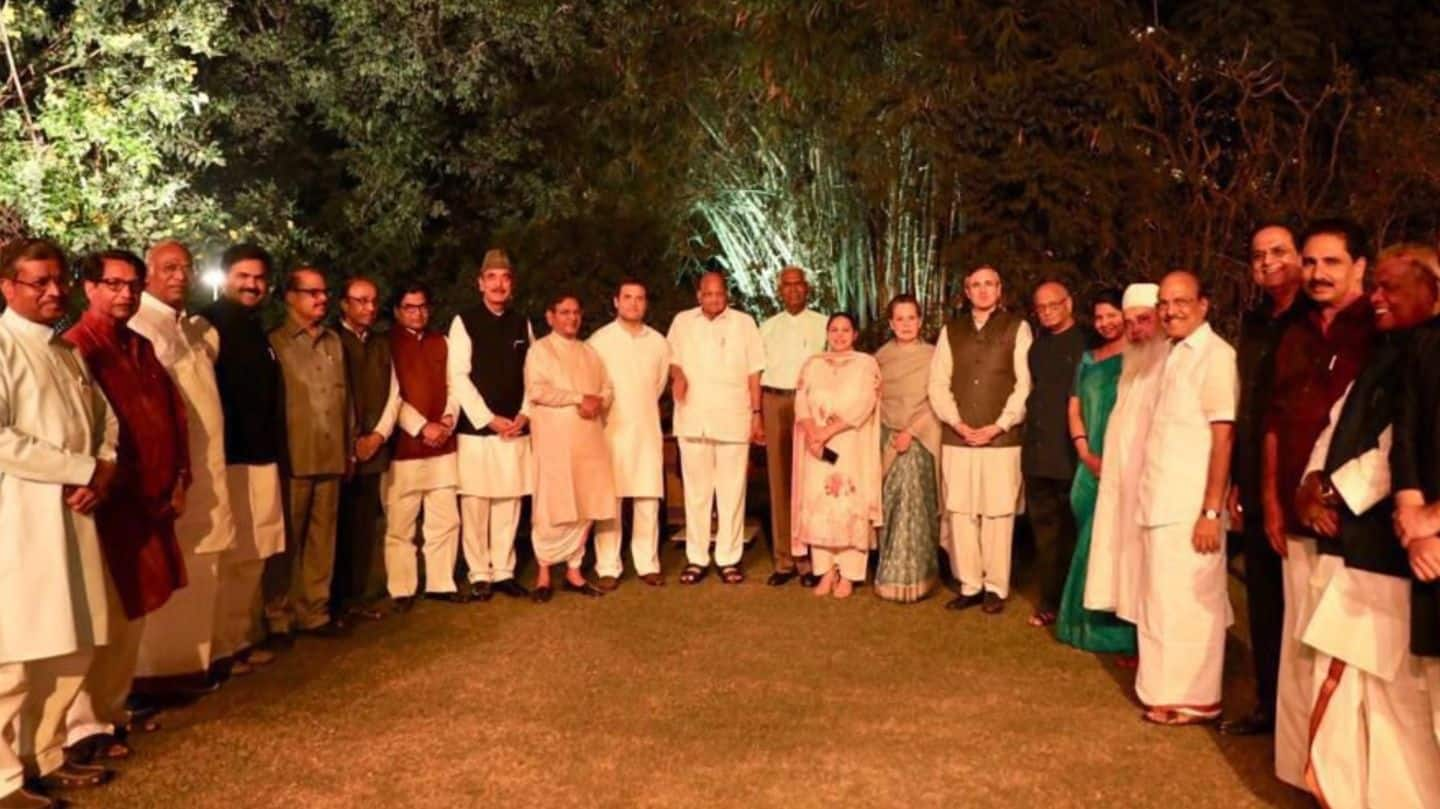 "Sonia's dinner: 20 Opposition parties discuss politics ""informally"""