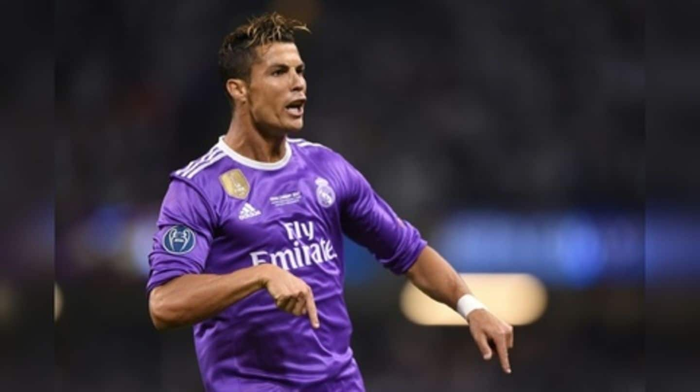newest 1d705 3f35c No Cristiano Ronaldo during Real Madrid's 2018-19 kit launch