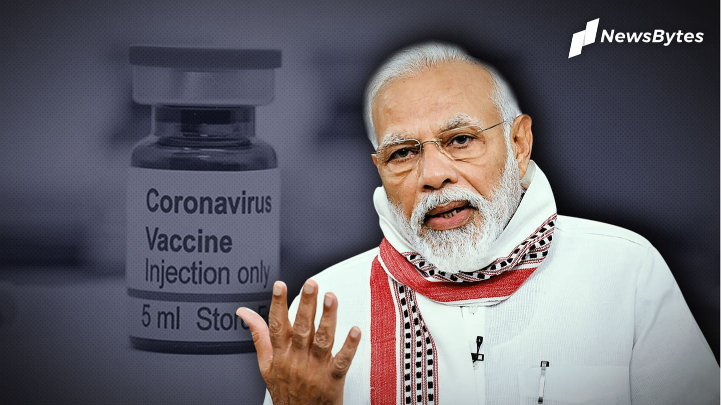 Centre will sponsor vaccination of healthcare, frontline workers: PM Modi