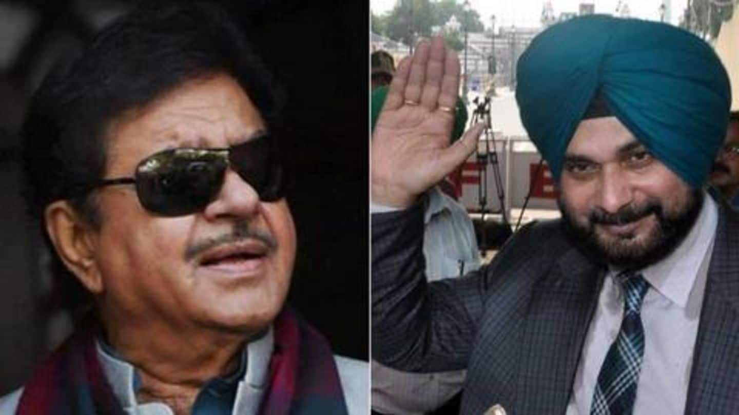 After quitting Punjab Cabinet, Sidhu gets support from Shatrughan Sinha