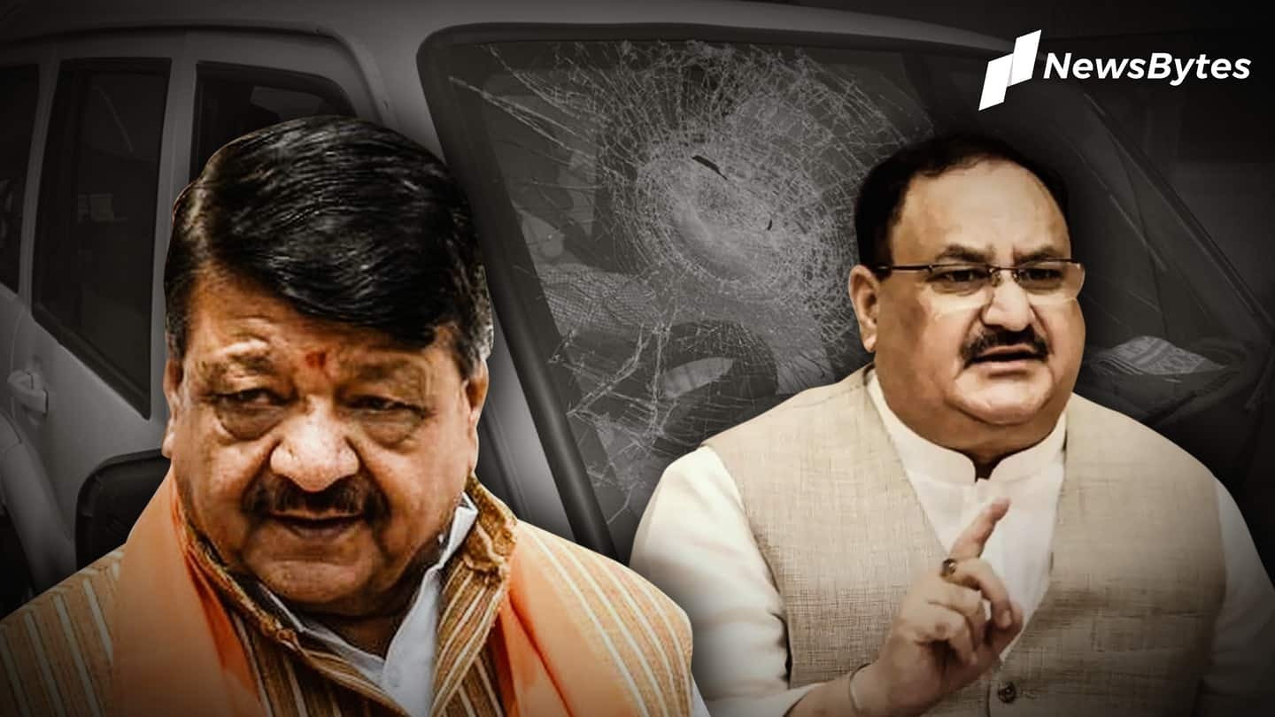 BJP's convoy attacked in Bengal, stones pelted at Nadda's car