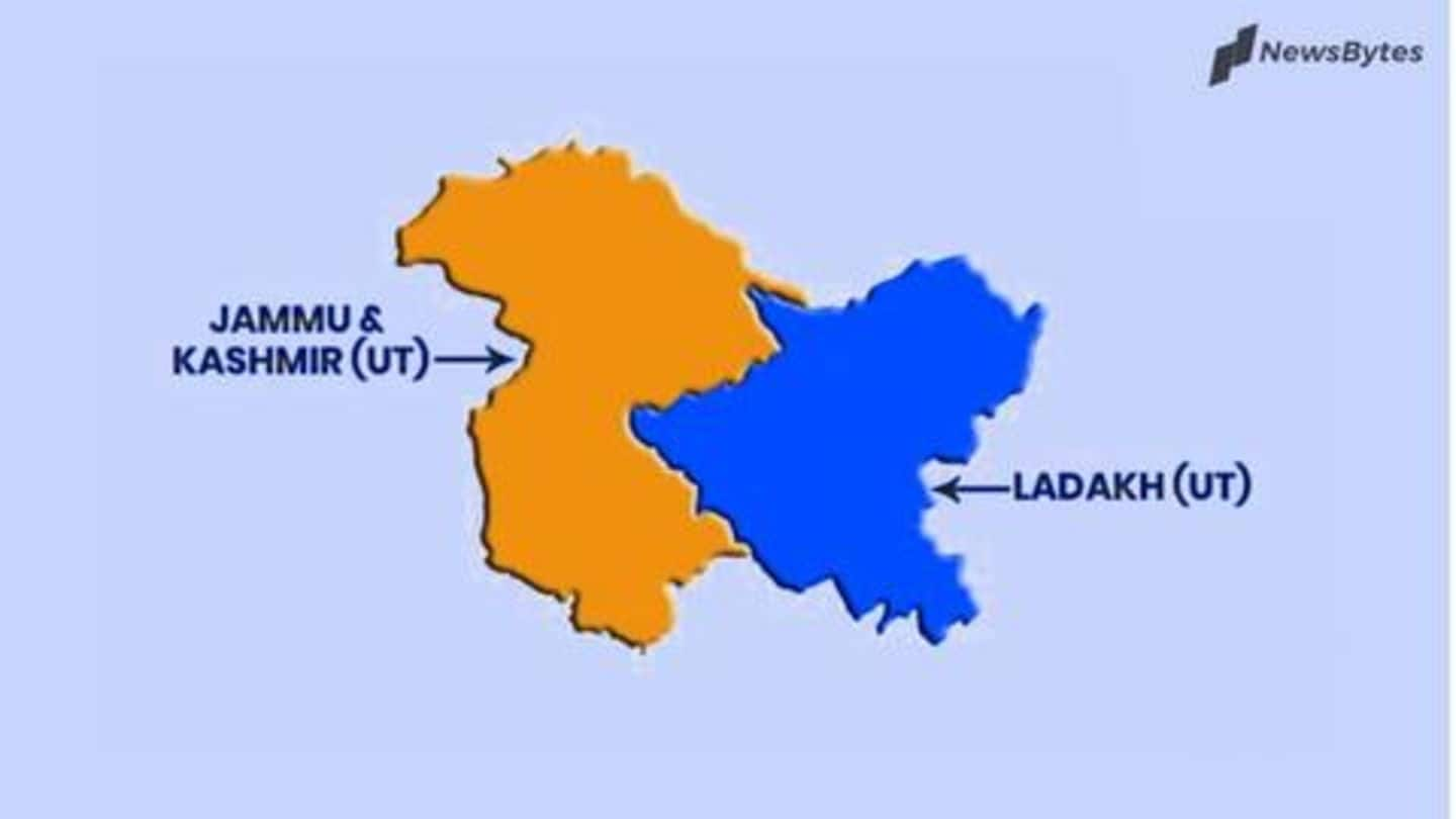 India's map has changed, J&K officially split into two UTs