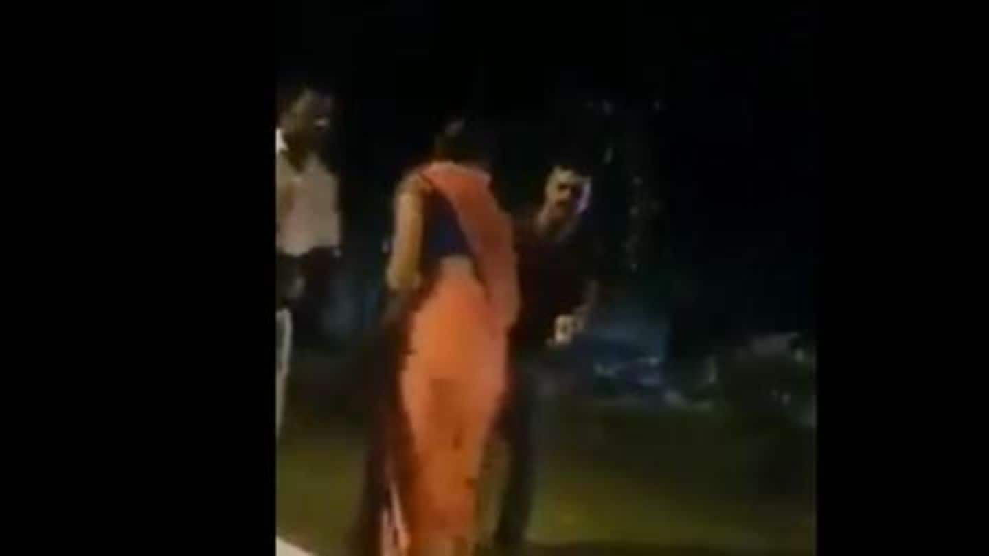 Faridabad: Policemen beat woman with belt, video goes viral