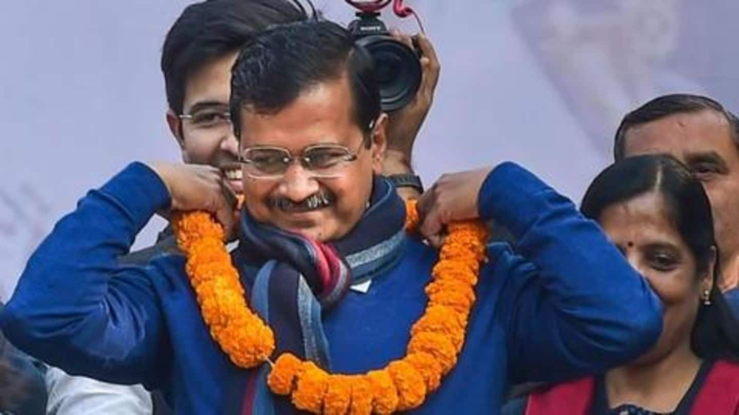For third time, Arvind Kejriwal takes oath as Delhi's CM