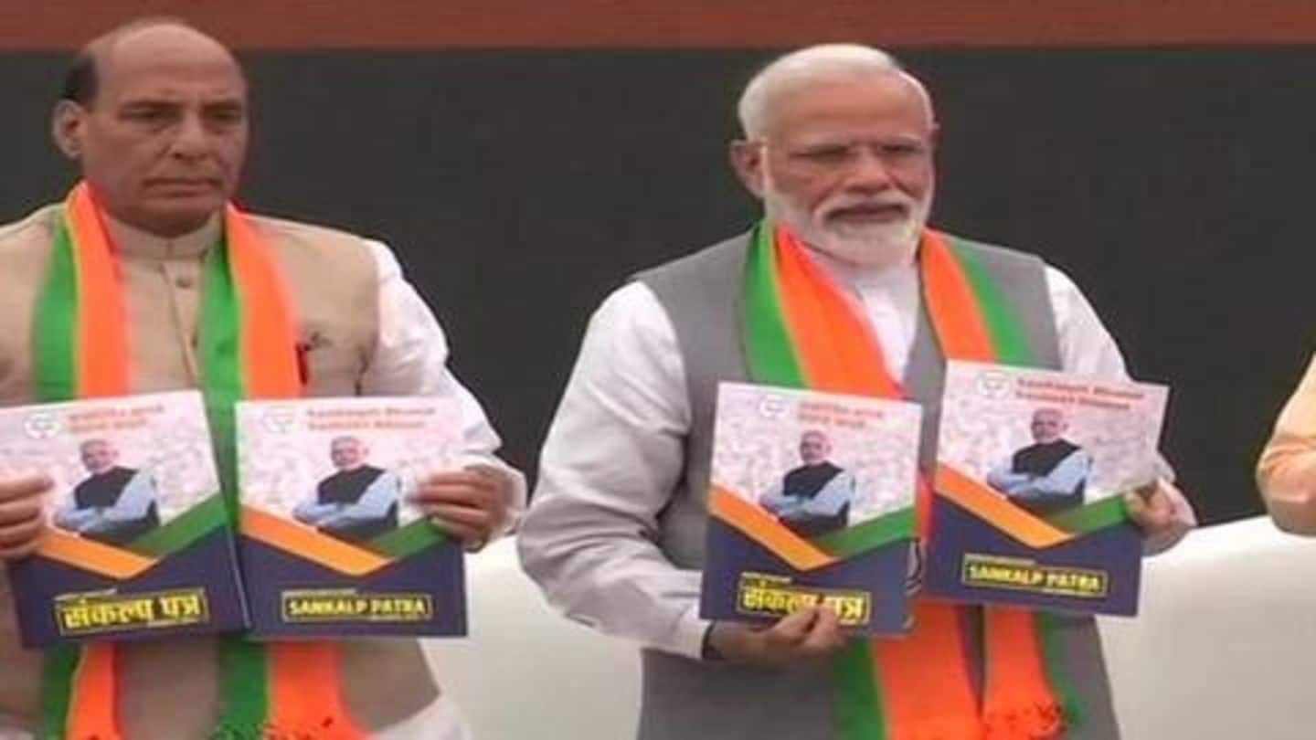 BJP releases its manifesto, promises to pass Citizenship Amendment Bill