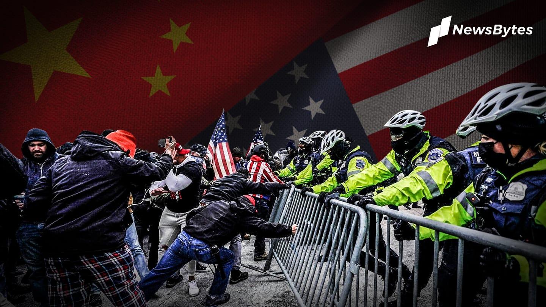 Beautiful sight: China's internet is enjoying US Capitol mayhem