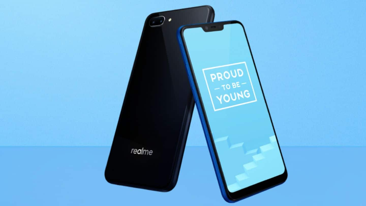 Realme C1 with notched display, 4,230mAh battery launched in India