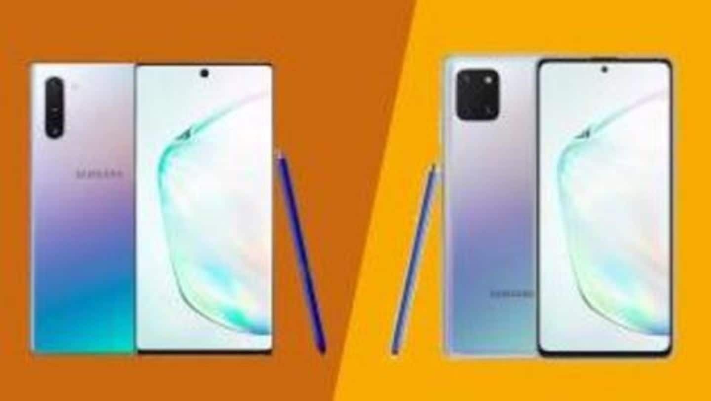 Samsung Galaxy Note 10 v/s Note 10 Lite: What's different?