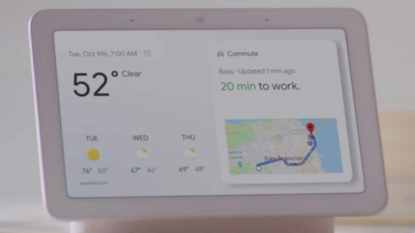 Google Home Hub unveiled, will take on Amazon's Echo Show