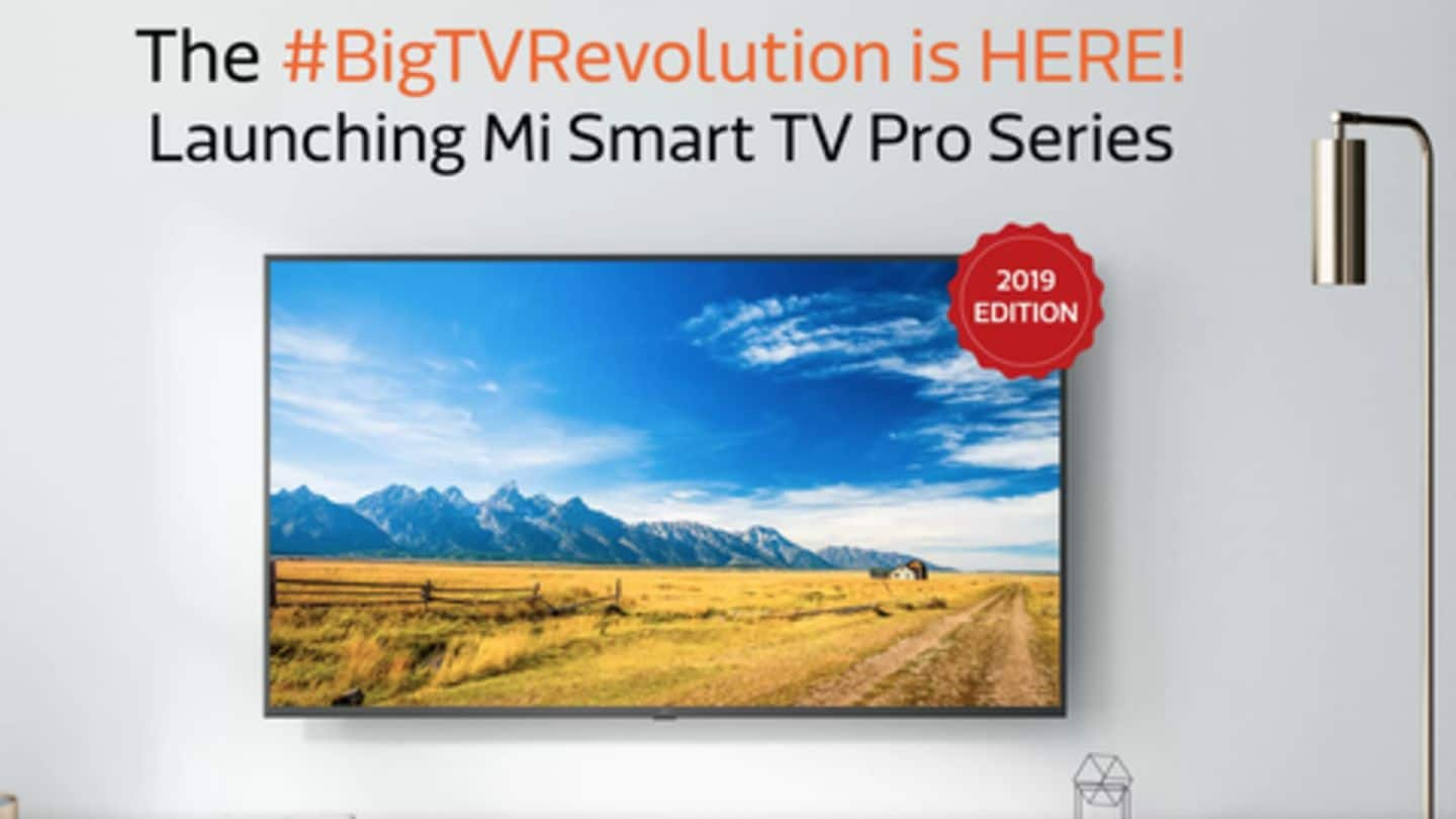 Xiaomi Mi TV 4X Pro, 4A Pro available in India