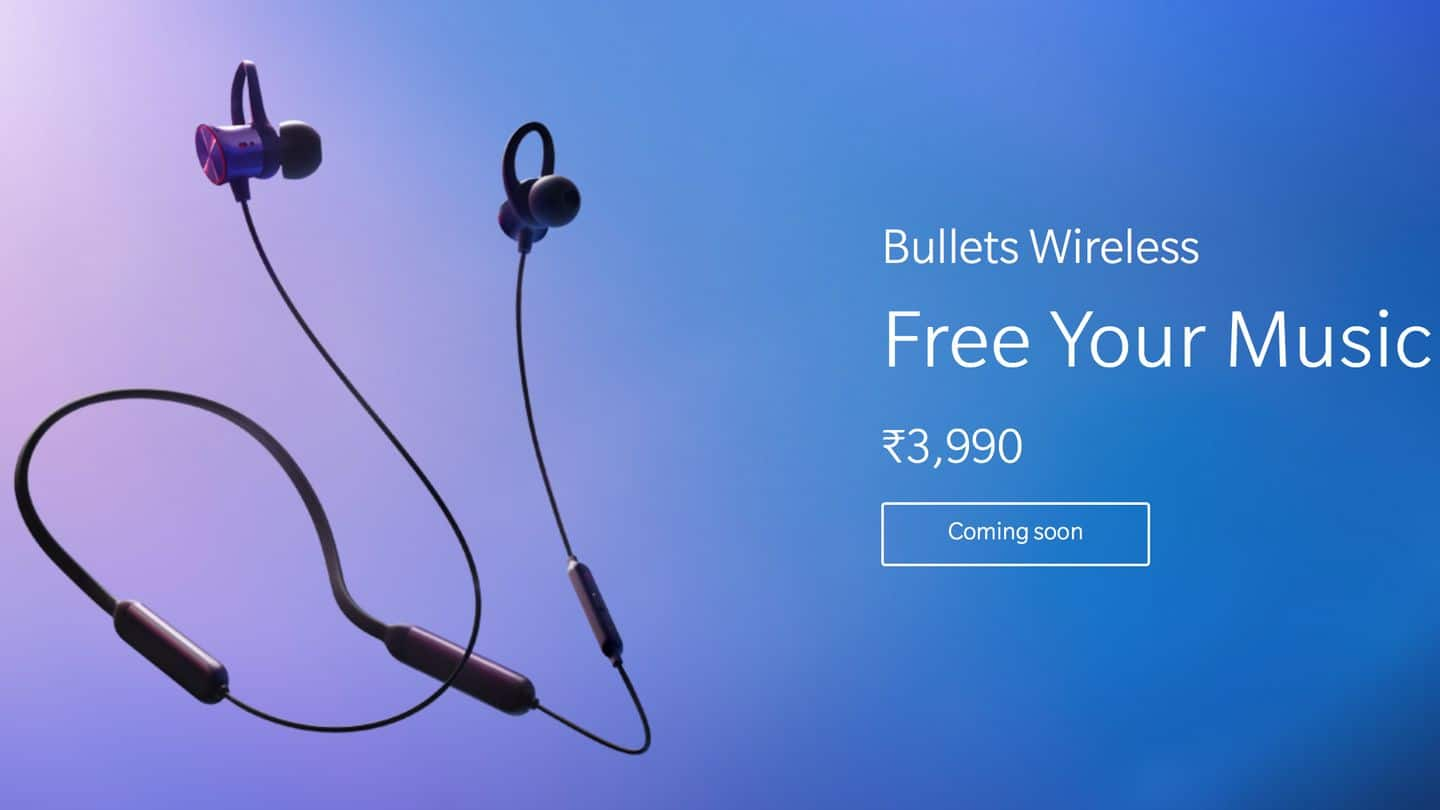 OnePlus's Bullets Wireless earphones launched in India for Rs. 3,990