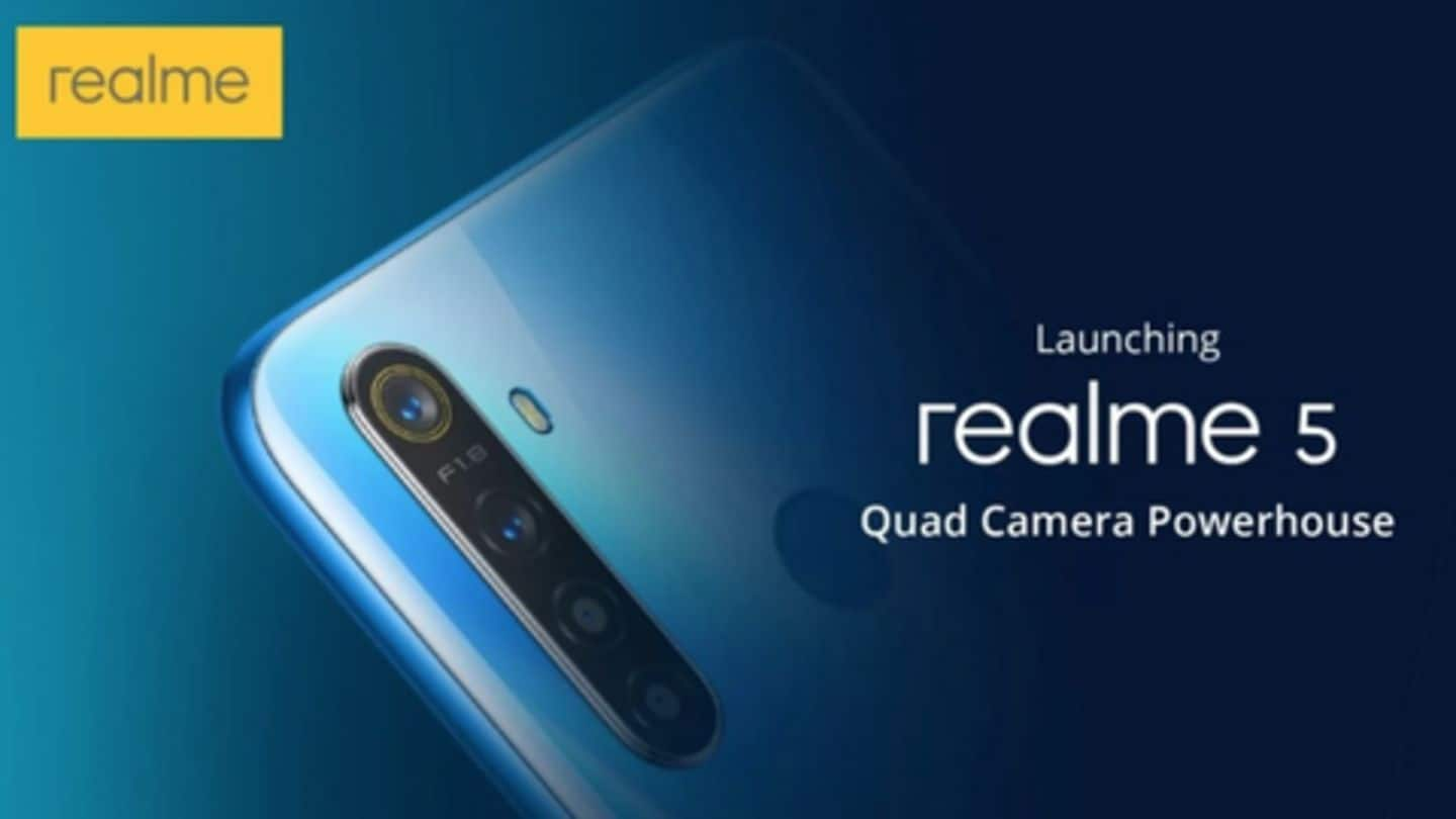 Realme 5, Pro variant to be launched on August 20