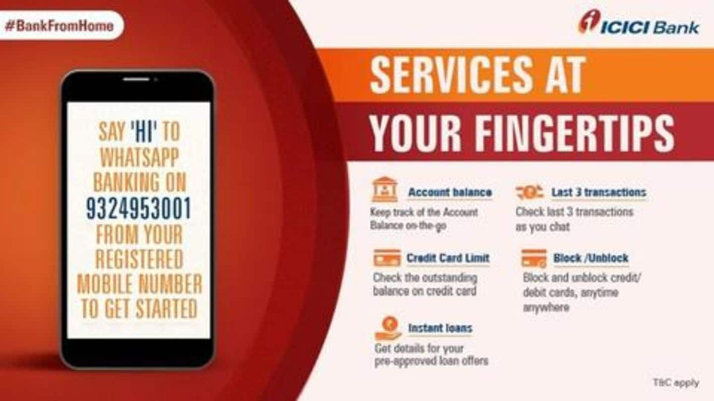 Amid lockdown, ICICI launches WhatsApp banking service: How to use