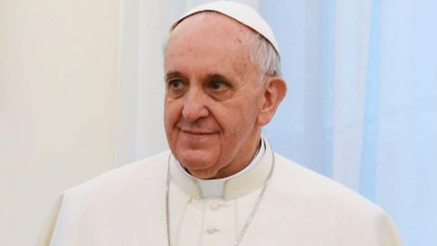 Pope touches down in the US