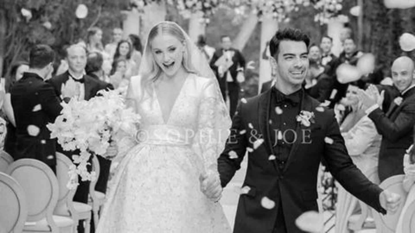 Sophie Turner's wedding gown designing took 1,050 hours!
